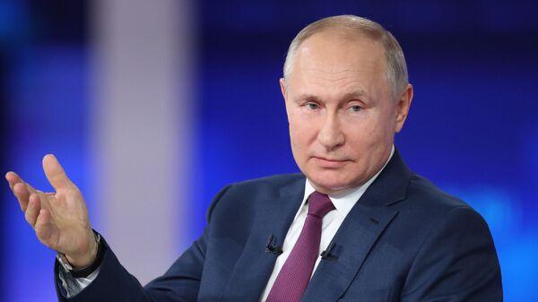 Прямая линия с президентом РФ Владимиром Путиным - Sputnik Абхазия
