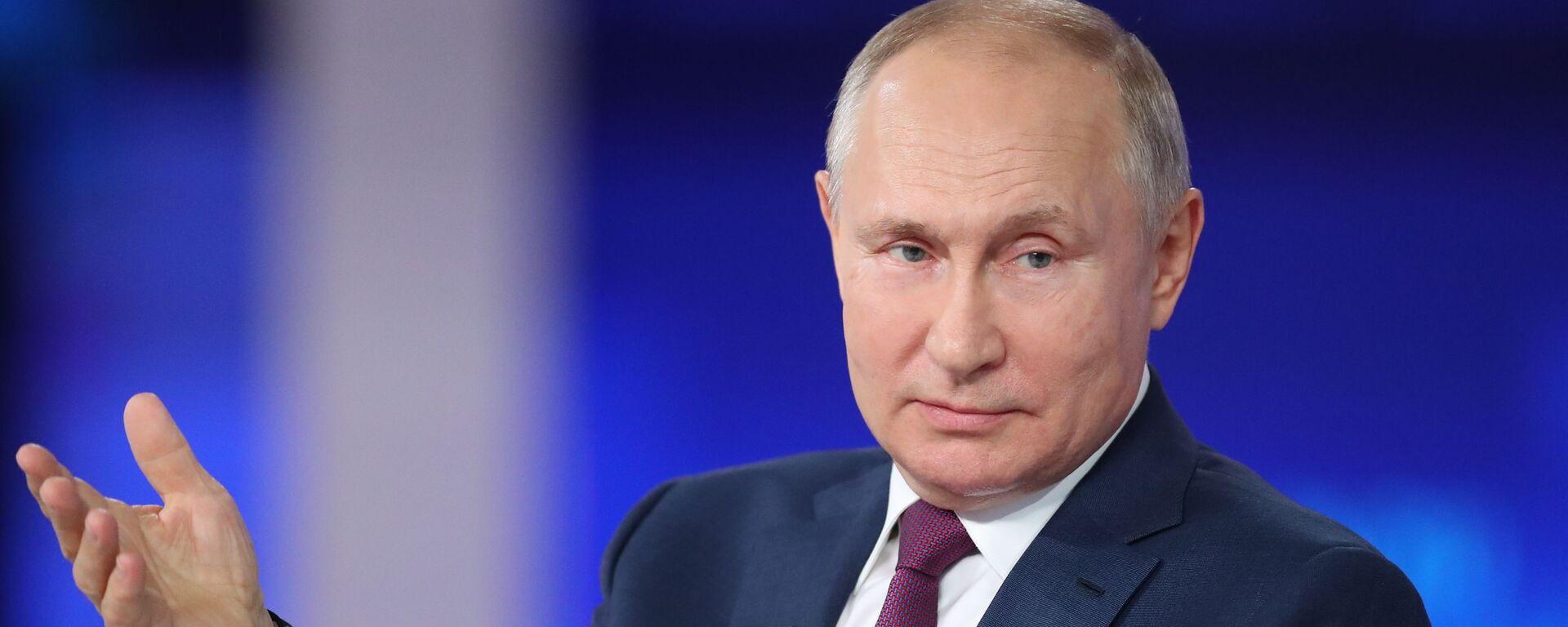 Прямая линия с президентом РФ Владимиром Путиным - Sputnik Абхазия, 1920, 05.07.2021