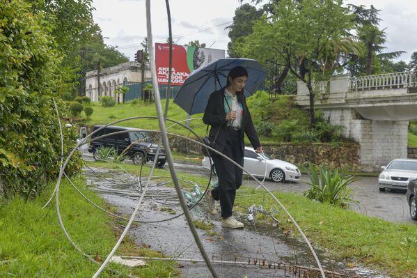 Ликвидация последствий шторма в Сухуме  - Sputnik Аҧсны