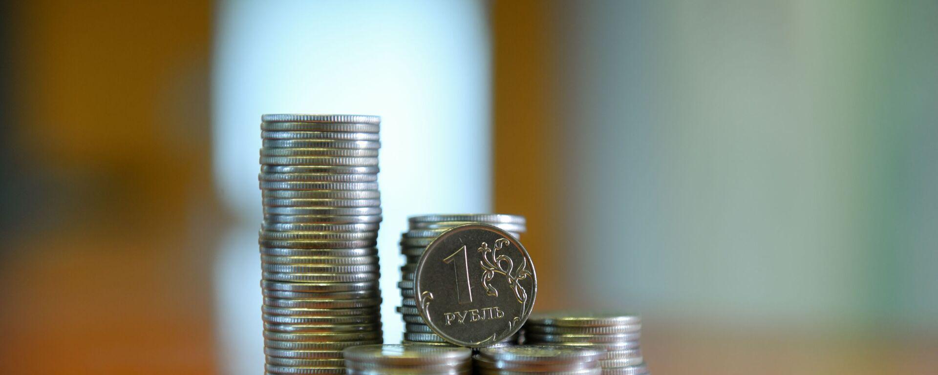 Монета номиналом один рубль  - Sputnik Абхазия, 1920, 04.09.2021