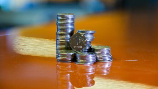 Монета номиналом один рубль  - Sputnik Абхазия