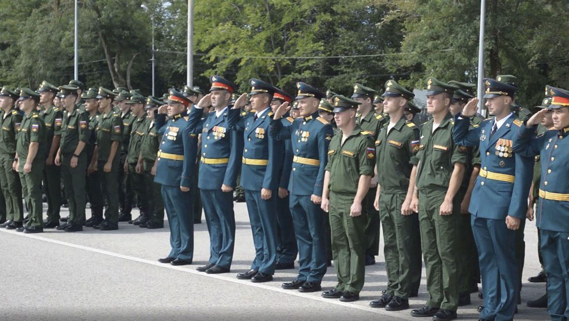 Седьмая военная база Минобороны России в Абхазии отметила 103-ю годовщину - Sputnik Абхазия, 1920, 24.07.2021