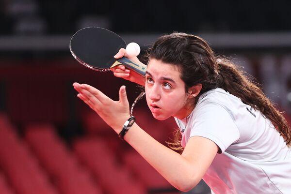 Сирийский игрок в настольный теннис Хенд Заза - Sputnik Абхазия
