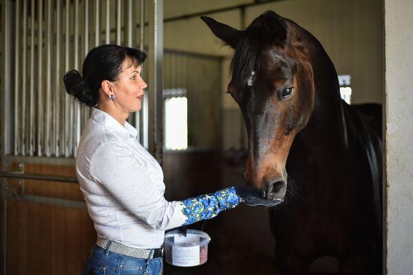 Российская спортсменка-конник Инесса Меркулова - Sputnik Абхазия