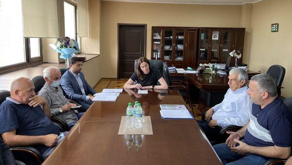 Вице-премьер, министр экономики Кристина Озган провела совещание с представителями Государственного управления лесного хозяйства, Государственного комитета по экологии и директорами лесхозов, на котором обсудили текущую ситуацию в отрасли. - Sputnik Абхазия