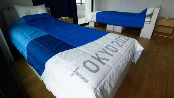 Картонные кровати в Олимпийской деревне Токио - Sputnik Абхазия
