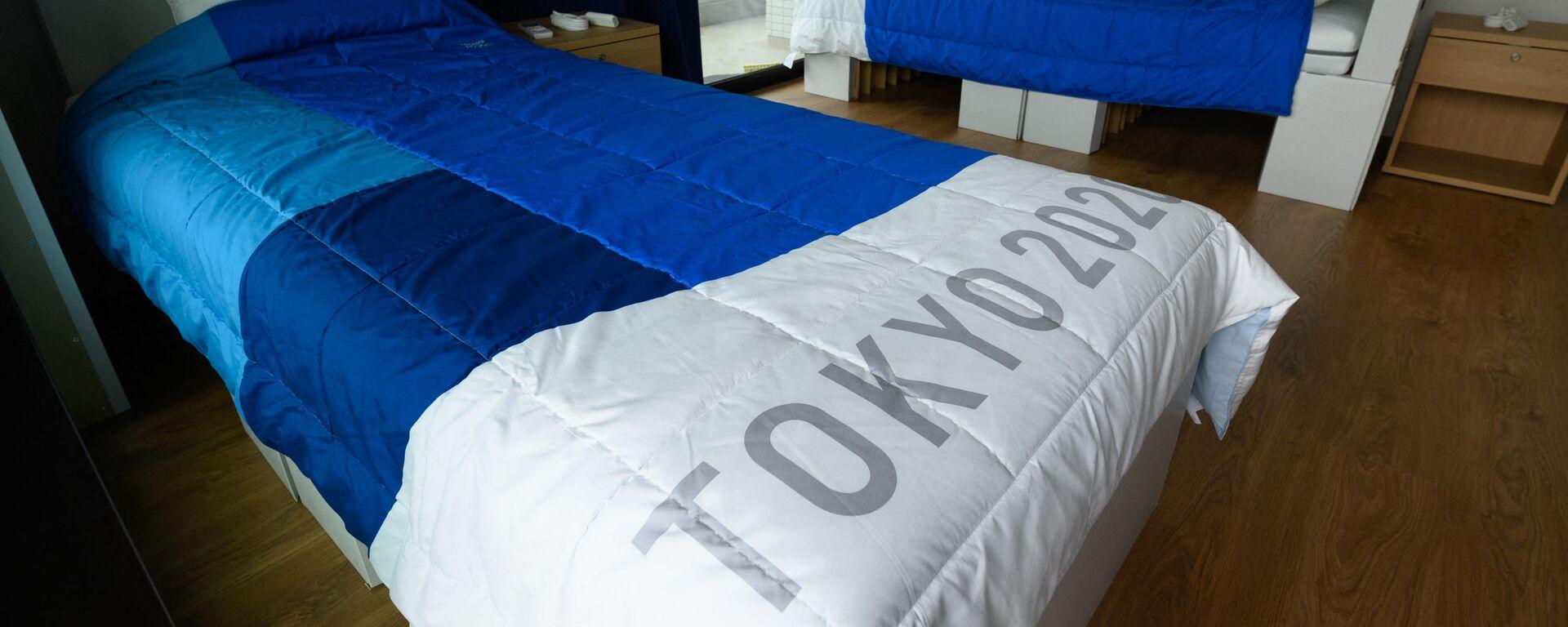 Картонные кровати в Олимпийской деревне Токио - Sputnik Абхазия, 1920, 28.07.2021