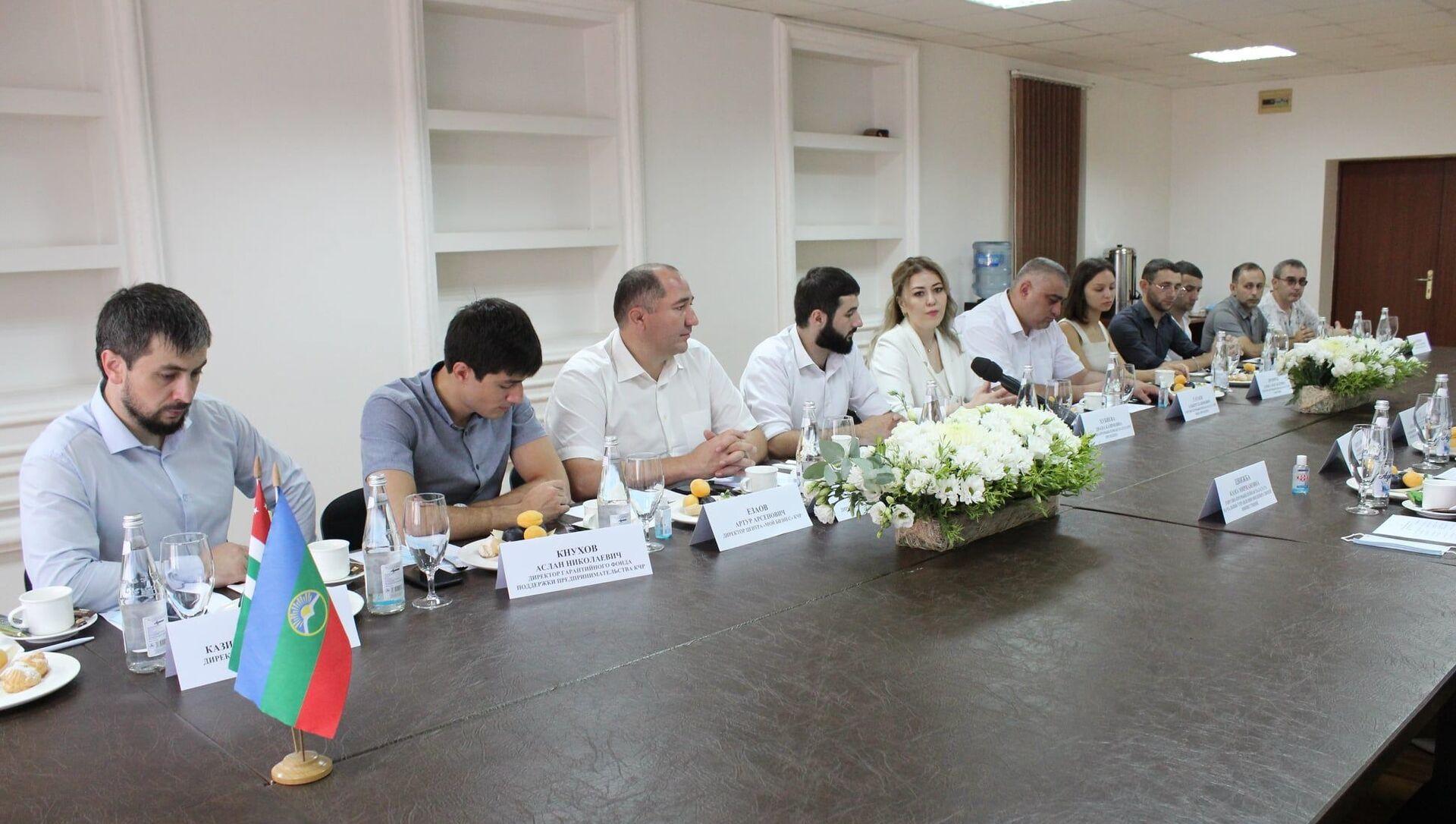 В Абхазии находится бизнес-делегация представителей малого и среднего предпринимательства из Карачаево-Черкесской Республики - Sputnik Абхазия, 1920, 02.08.2021