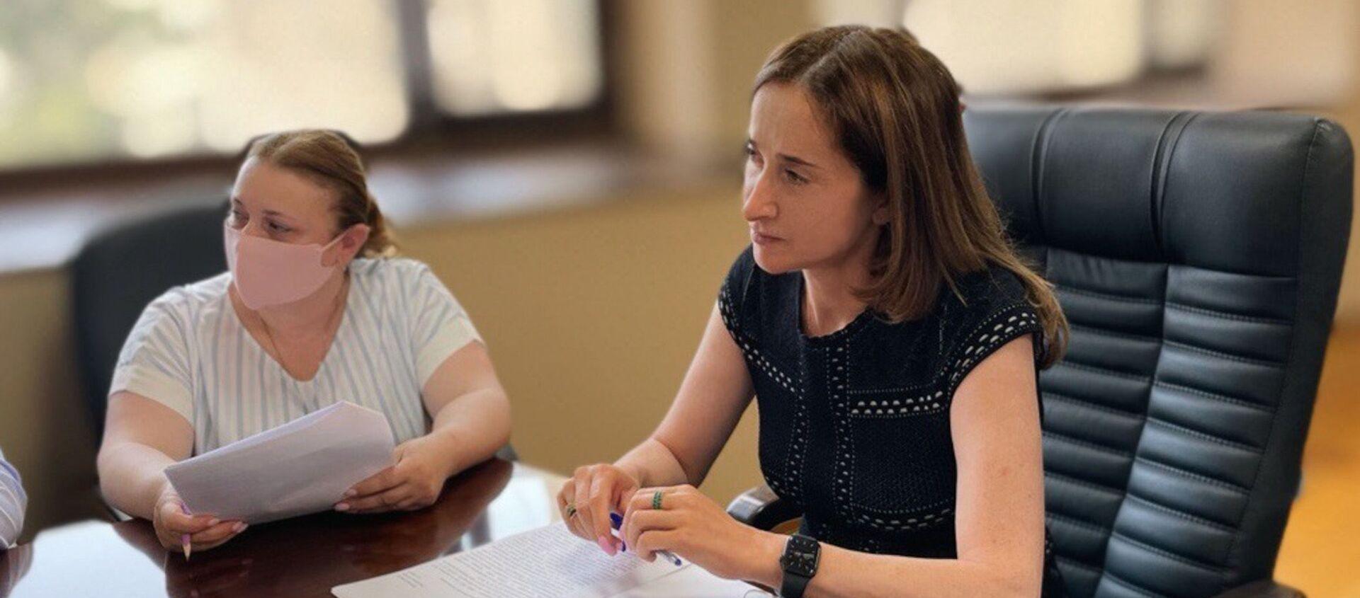 Вице-премьер, министр экономики Кристина Озган провела совещание с представителями бизнеса в сфере продажи топлива. - Sputnik Абхазия, 1920, 03.08.2021