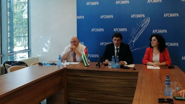 Пресс-конференция общественной организации ветеранов Отечественной войны народа Абхазии 1992-1993 годов Аруаа  - Sputnik Аҧсны