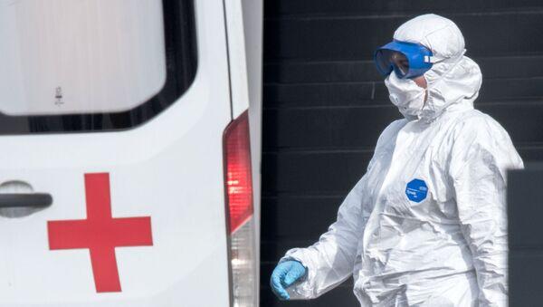 Больница в Коммунарке продолжает принимать пациентов с подозрением на коронавирус - Sputnik Аҧсны
