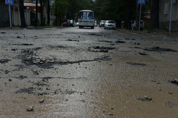 Уровень воды местами превысил полтора метра. - Sputnik Абхазия
