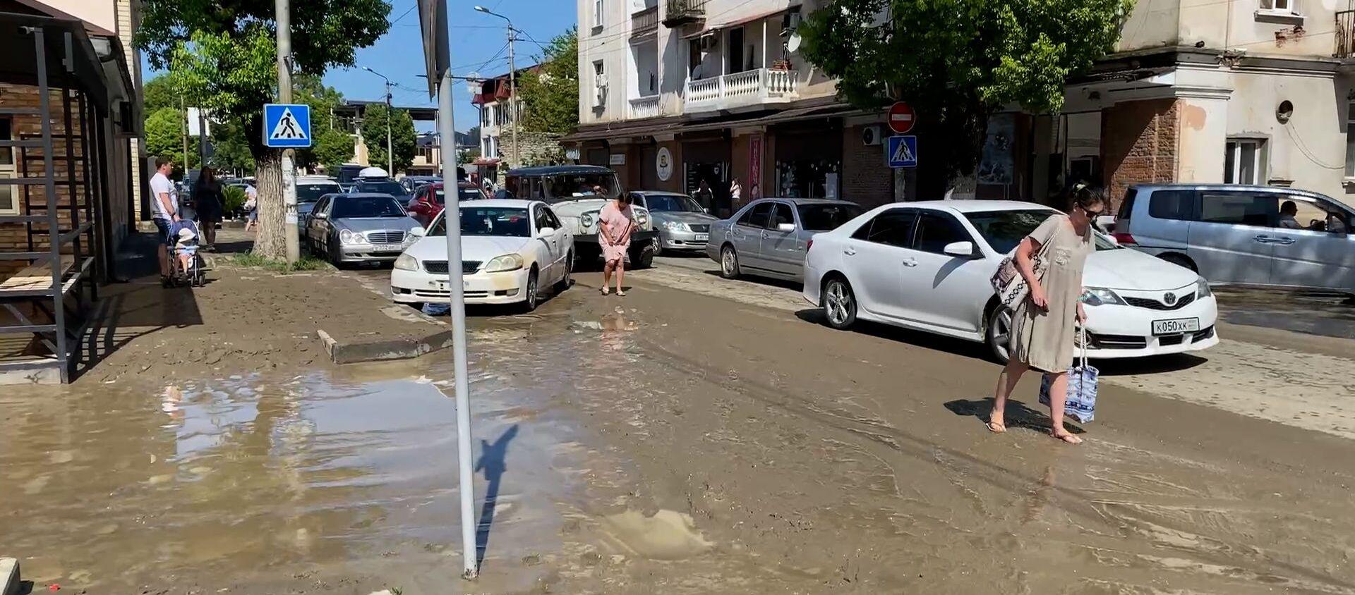 Последствия потопа в Сухуме - Sputnik Абхазия, 1920, 16.08.2021