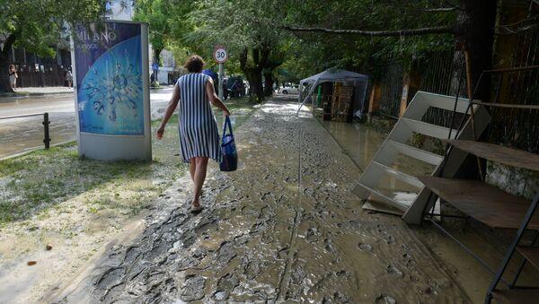 Последствия затопления города Сухум  - Sputnik Аҧсны