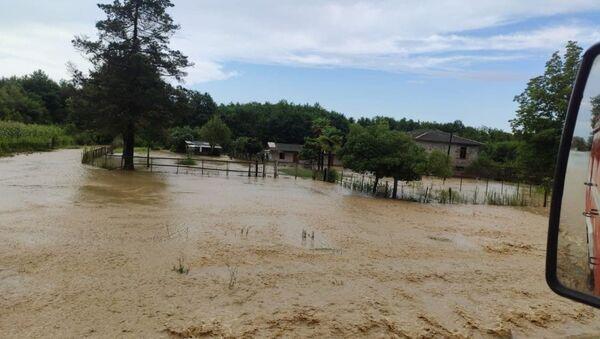 Затопленное село в Очамчырском районе  - Sputnik Аҧсны