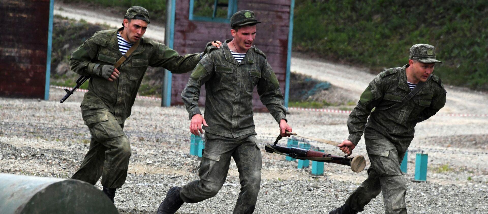 Всеармейский конкурс Морской десант-2021 во Владивостоке - Sputnik Абхазия, 1920, 24.08.2021