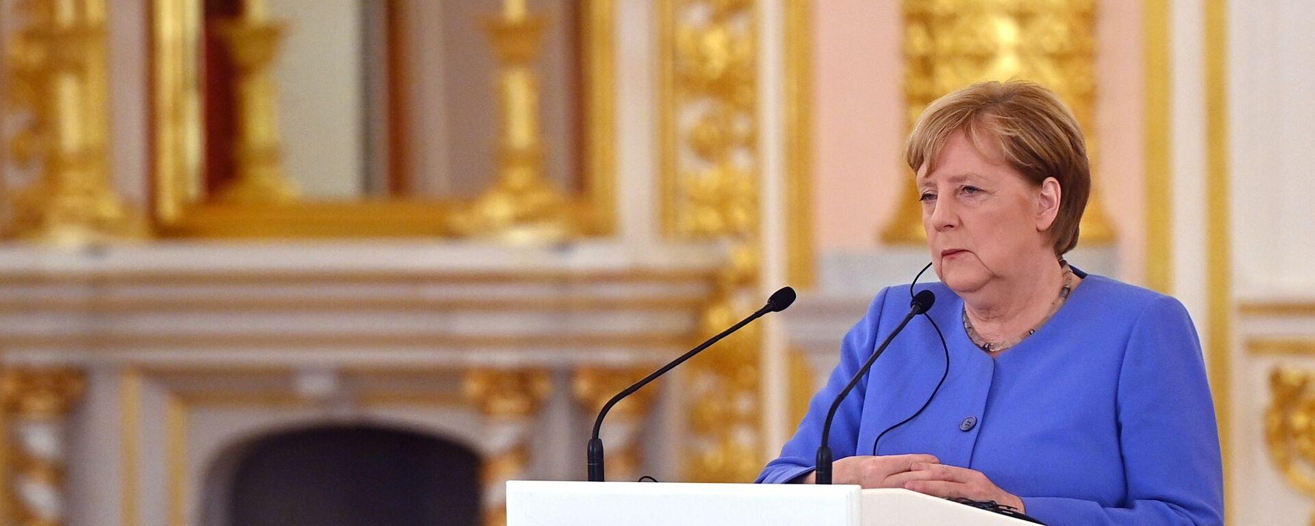 Встреча президента РФ В. Путина с канцлером Германии А. Меркель - Sputnik Абхазия, 1920, 23.08.2021