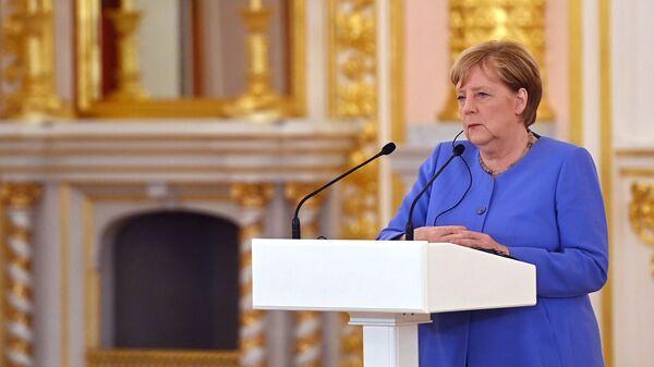 Встреча президента РФ В. Путина с канцлером Германии А. Меркель - Sputnik Абхазия