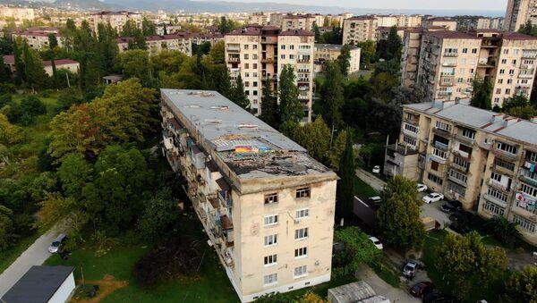 Пострадавший от ливней дом  по улице Гумистинская - Sputnik Абхазия