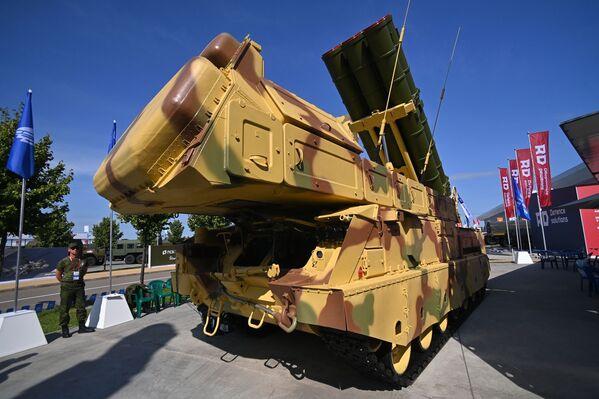 Зенитно-ракетный комплекс (ЗРК) Викинг, представленный на открытой экспозиционной площадке Конгрессно-выставочного центра Патриот в рамках международного военно-технического форума Армия-2021. - Sputnik Абхазия