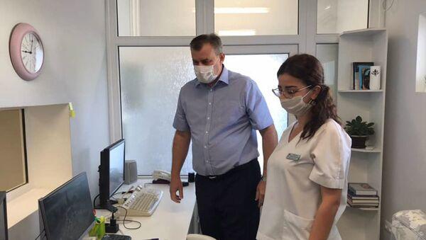 Компьютерный томограф в Гудаутском ковидном госпитале - Sputnik Абхазия