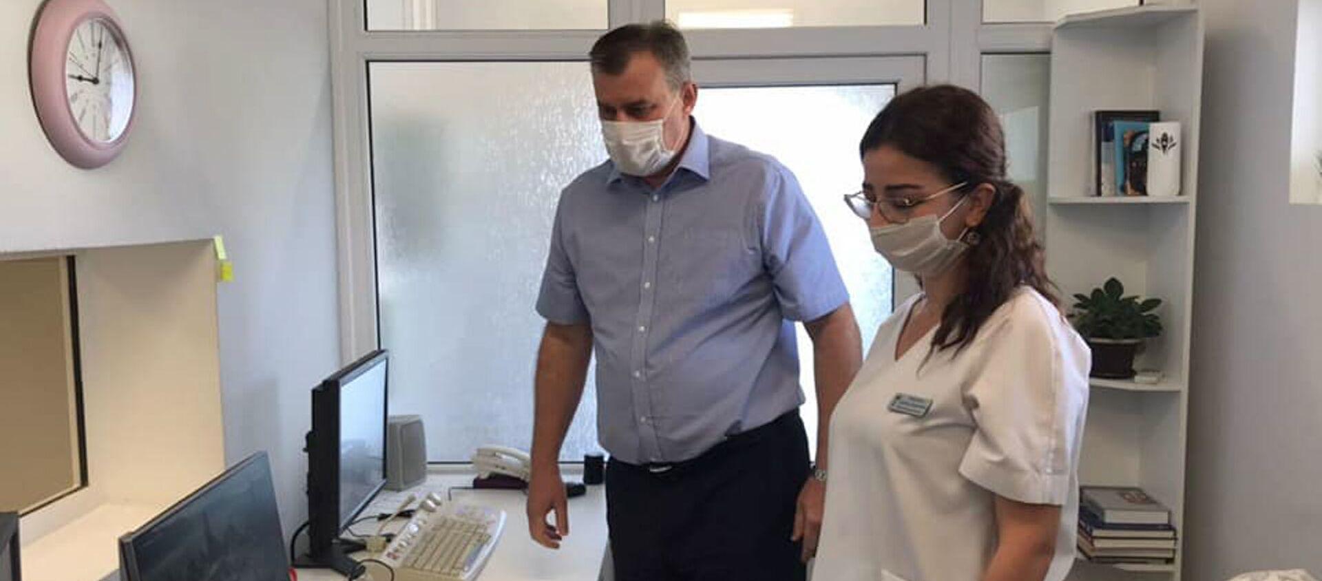Компьютерный томограф в Гудаутском ковидном госпитале - Sputnik Абхазия, 1920, 09.09.2021