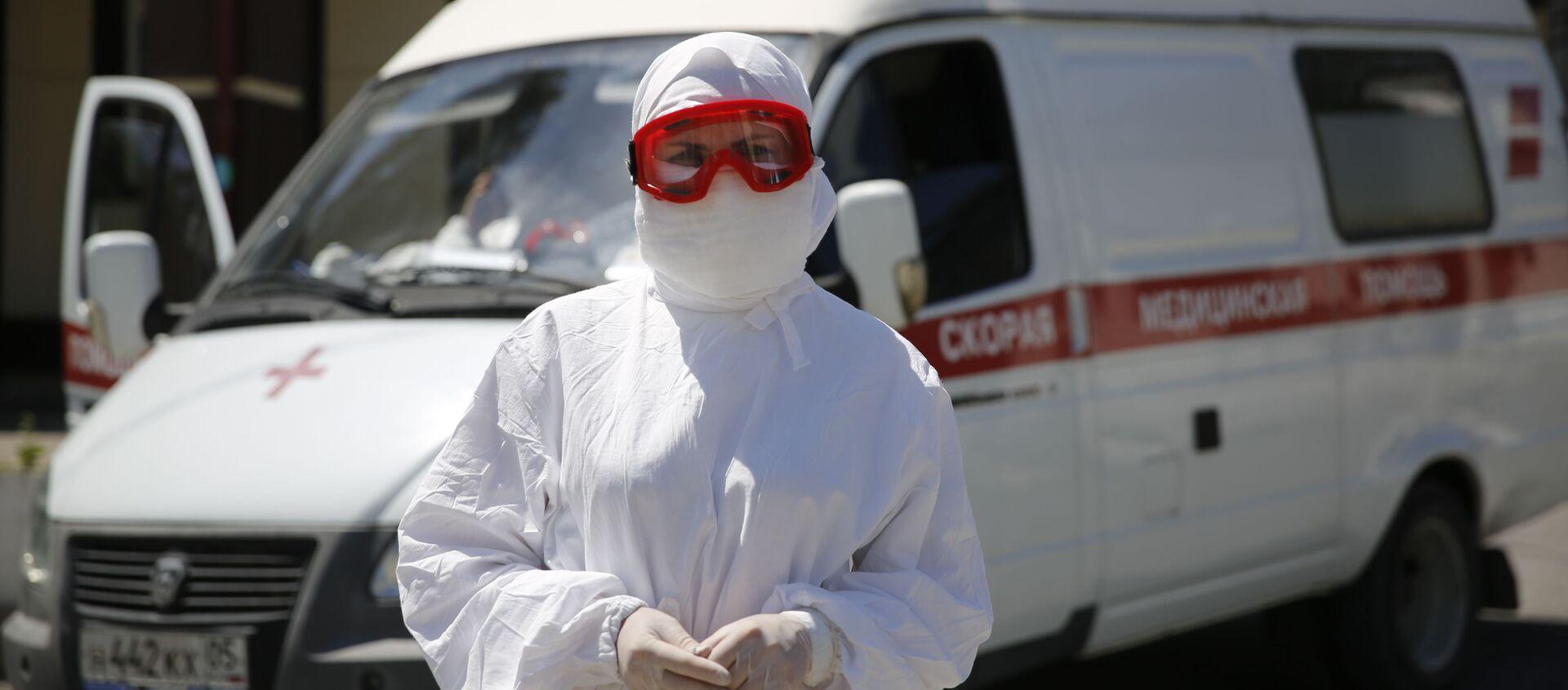 Медики ЮВО приняли на лечение более 70 пациентов с COVID-19 в мобильном госпитале в Сухуме - Sputnik Абхазия, 1920, 06.09.2021