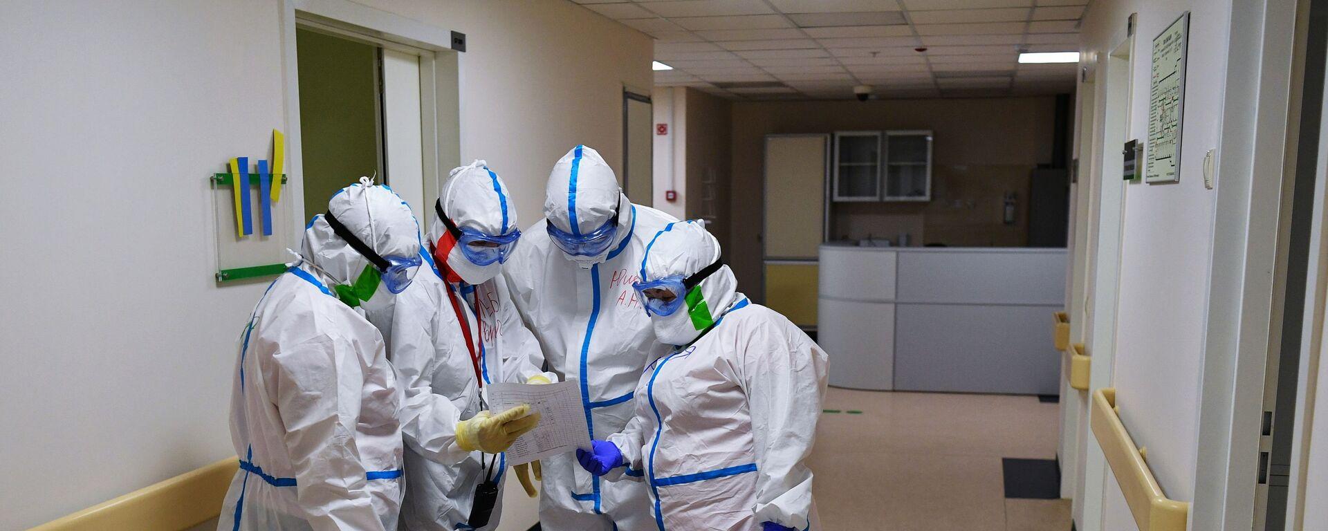 Госпиталь COVID-19 в Центре мозга и нейротехнологий ФМБА России - Sputnik Абхазия, 1920, 10.09.2021
