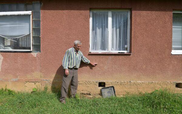 Пострадавший от наводнения дом Гельмута Пробста  в селе Лыхны - Sputnik Абхазия