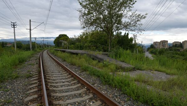 Железнодорожные пути  - Sputnik Аҧсны