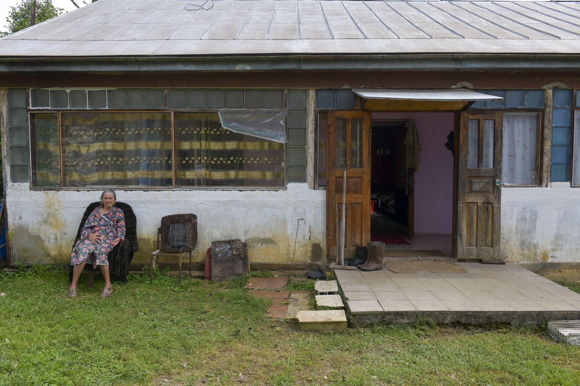 Затопленный дом немца в селе Лыхны Гельмута Пробста  - Sputnik Аҧсны, 1920, 12.10.2021