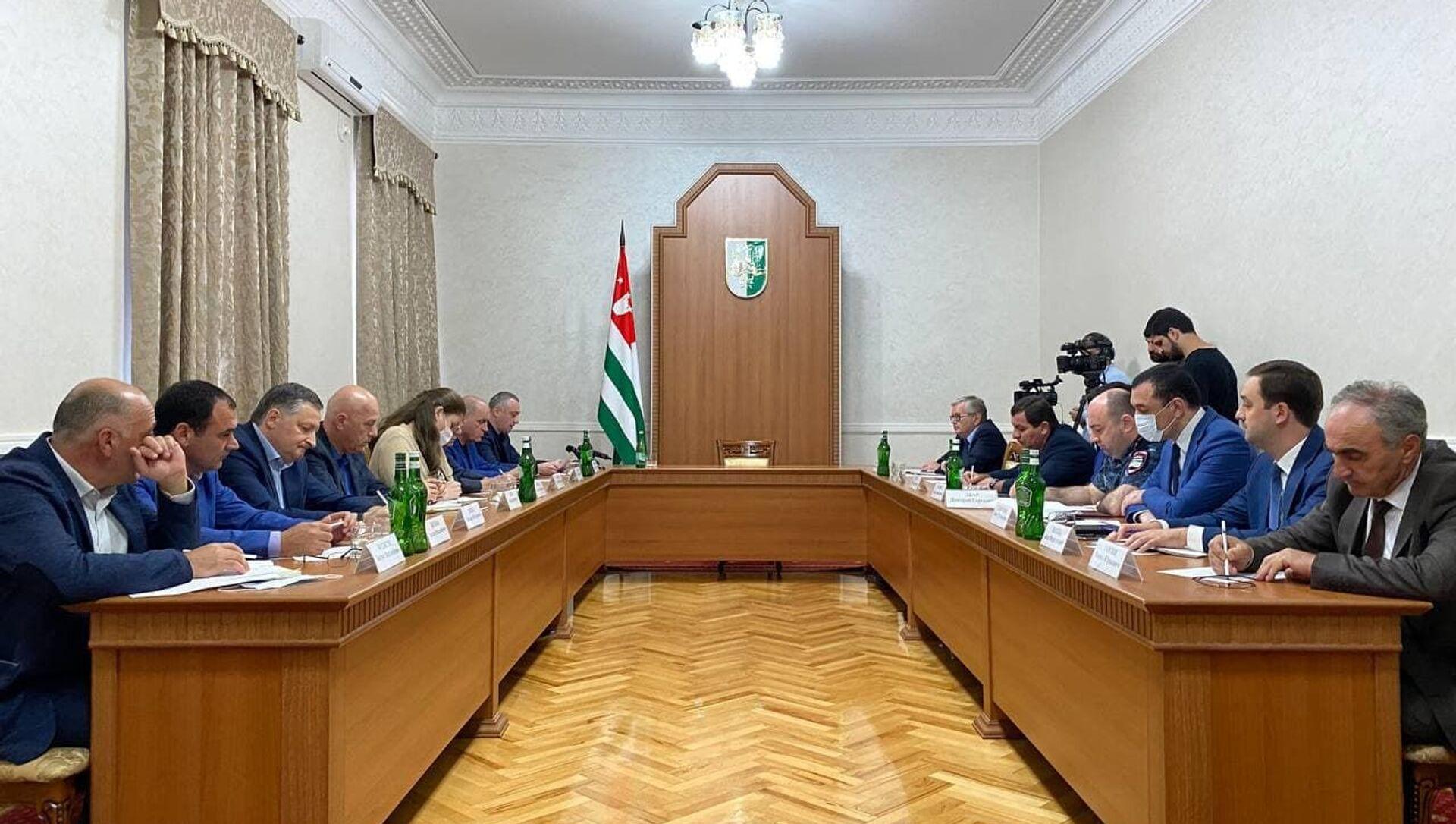 Совещание по организации выборов в Госдуму в Абхазии - Sputnik Абхазия, 1920, 13.09.2021