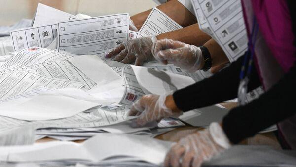 Подсчет голосов на выборах в единый день голосования - Sputnik Аҧсны