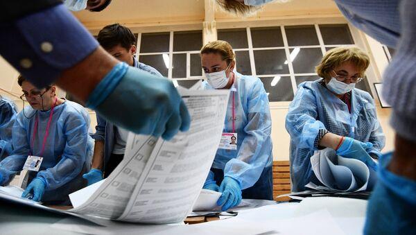 Подсчет голосов на выборах в единый день голосования - Sputnik Абхазия