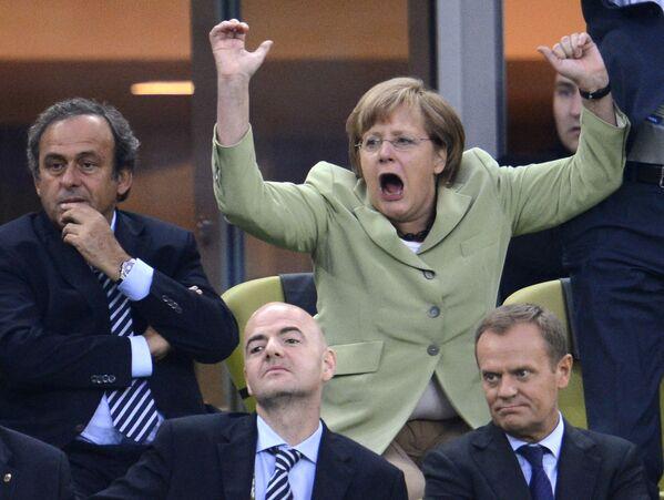 Канцлер Германии Ангела Меркель на арене Гданьск. - Sputnik Абхазия