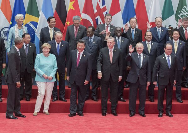 Главы делегаций государств-участников Группы двадцати G20 в Ханчжоу. - Sputnik Абхазия