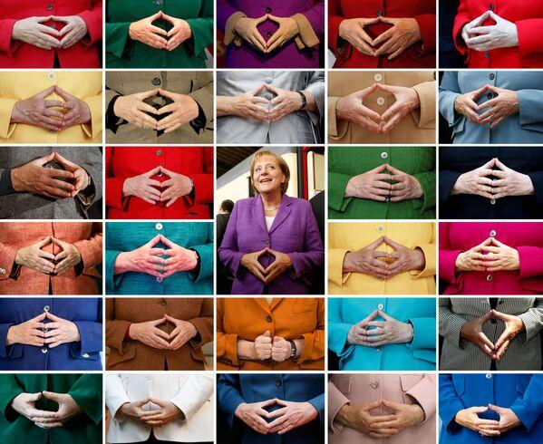 Комбинированный снимок знаменитого жеста рук Ангелы Меркель. - Sputnik Абхазия