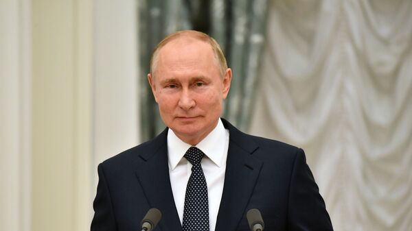 Президент РФ В. Путин встретился в Кремле с победителями и призёрами Игр XXXII Олимпиады в Токио - Sputnik Абхазия