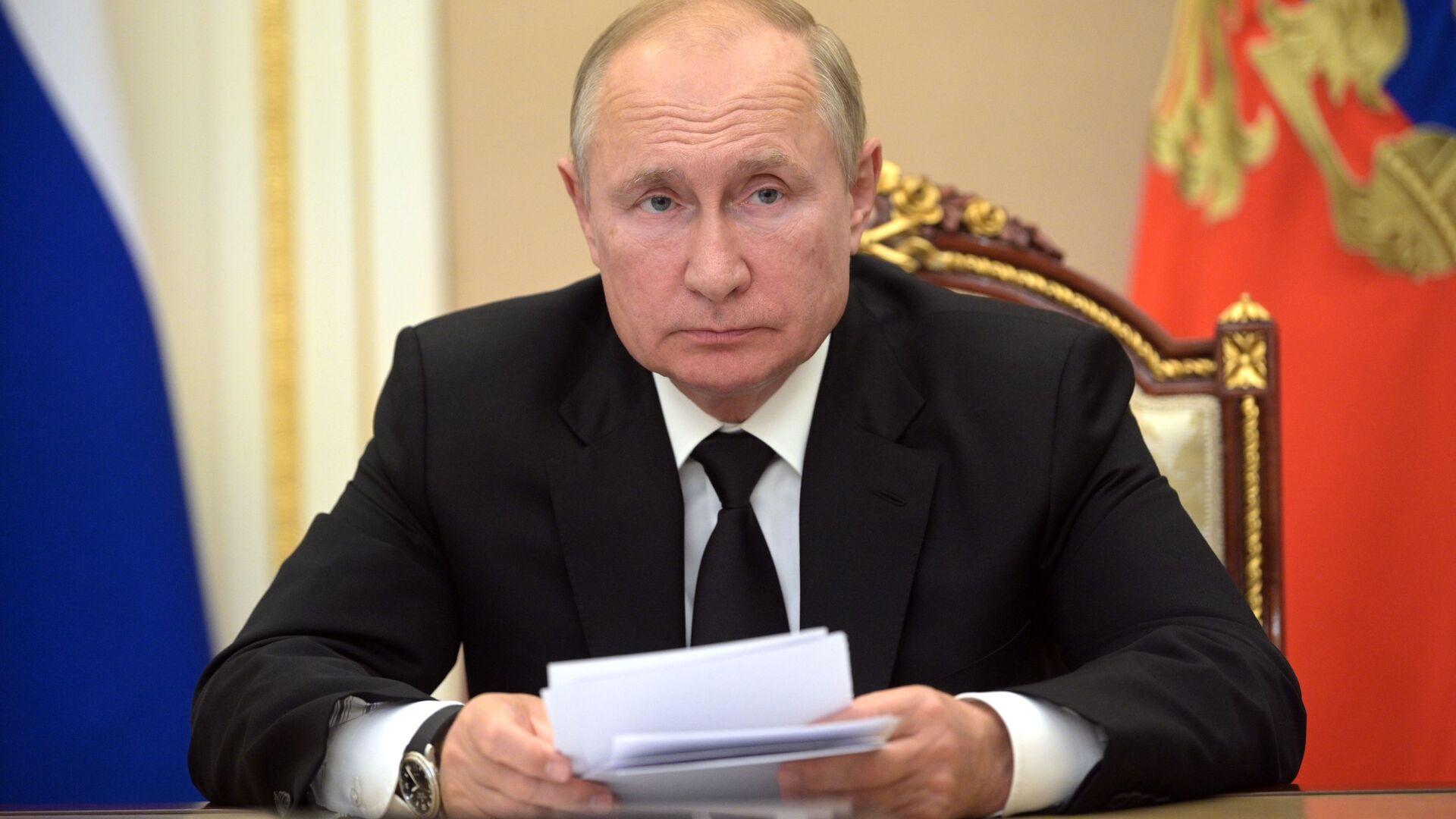 Президент РФ В. Путин провел заседание оргкомитета Победа - Sputnik Абхазия, 1920, 22.09.2021