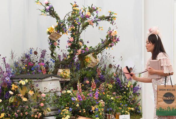 Посетительница на выставке цветов RHS Chelsea Flower Show в Лондоне. - Sputnik Абхазия