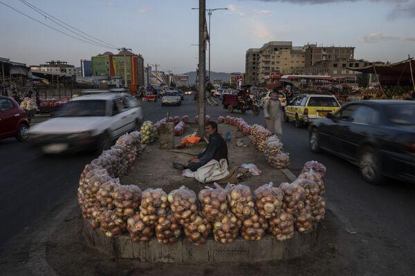 Афганец продает фрукты на улице в Кабуле. - Sputnik Абхазия