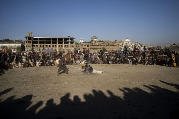 Афганцы смотрят поединок по традиционной борьбе в парке Кабула. - Sputnik Абхазия