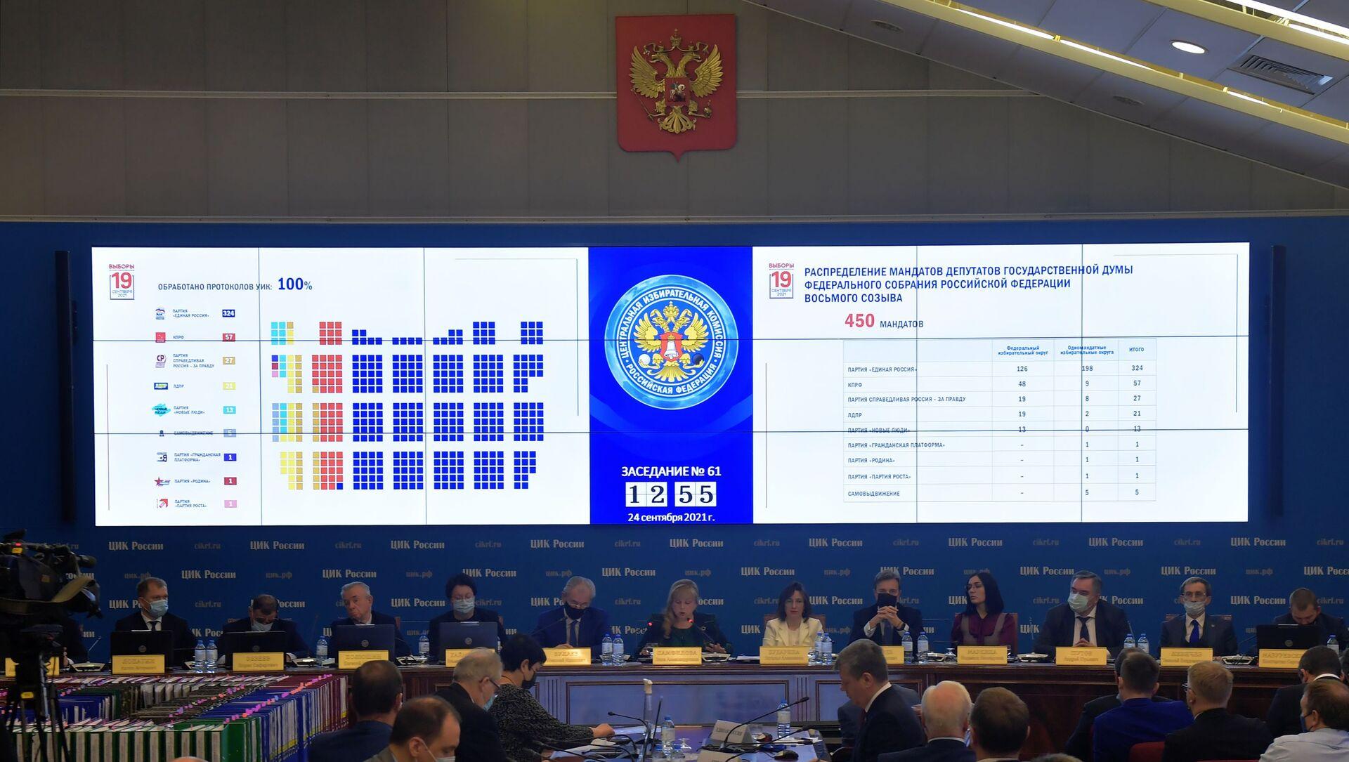 Подведение итогов выборов депутатов Госдумы восьмого созыва - Sputnik Абхазия, 1920, 26.09.2021