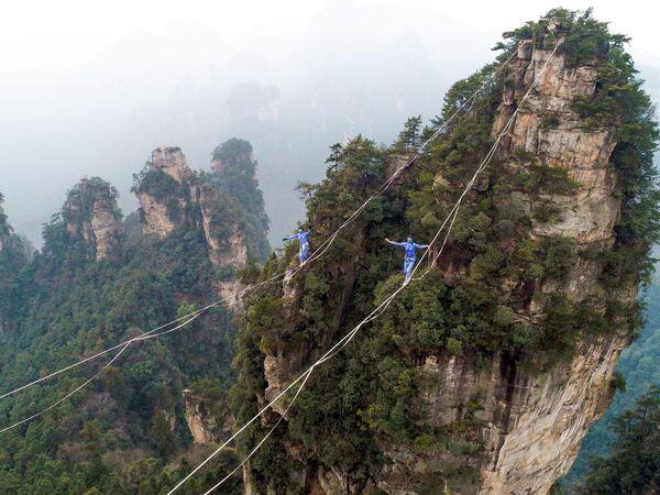 Соревнования в Чжанцзяцзе в центральной китайской провинции Хунань. - Sputnik Абхазия