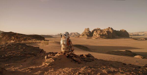 Кадр из фильма Марсианин, сделанный в пустыне Вади Рам в Иордании. - Sputnik Абхазия