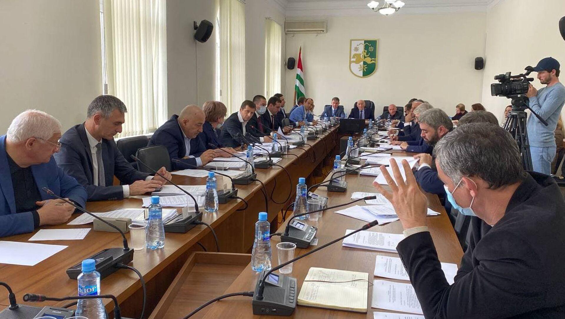 Сессия в парламенте  - Sputnik Абхазия, 1920, 29.09.2021