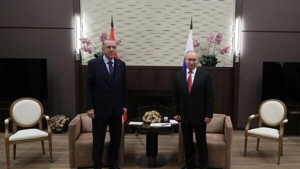 Президент РФ В. Путин провел переговоры с президентом Турции Р. Эрдоганом - Sputnik Абхазия