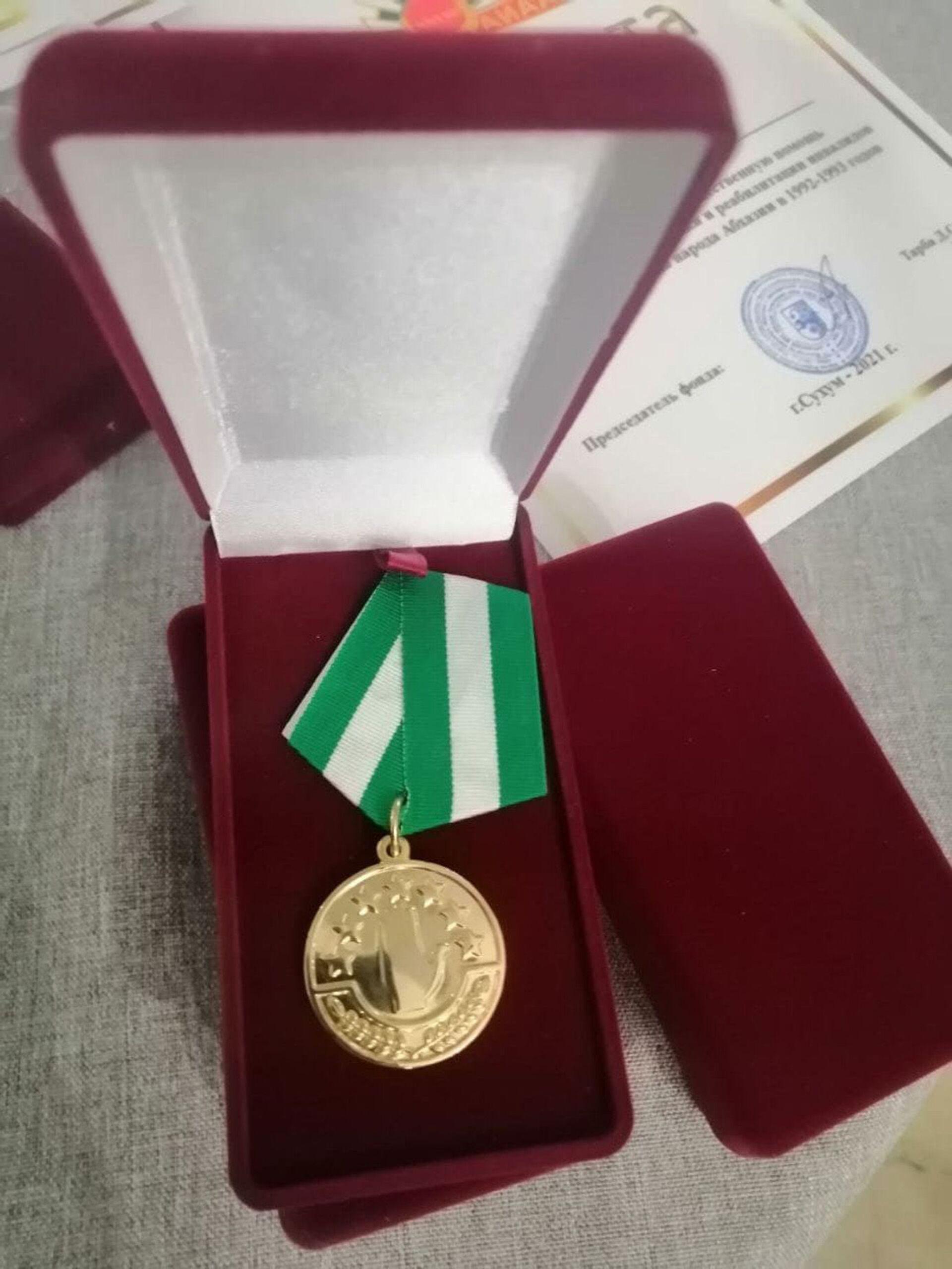 Награждение медалью ЗА ПОБЕДУ  - Sputnik Абхазия, 1920, 12.10.2021