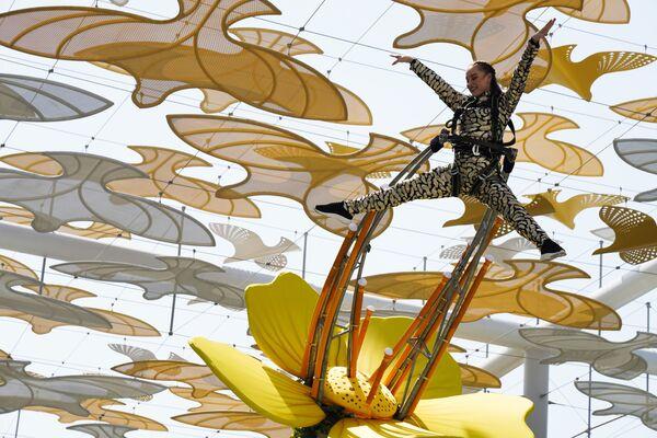 Выступление акробатов на Всемирной выставке Expo-2020 в Дубае, ОАЭ. - Sputnik Абхазия