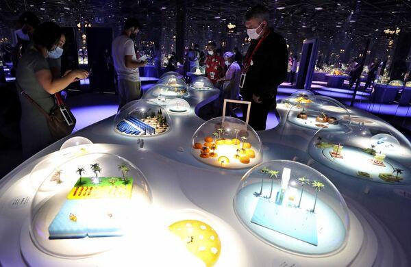 Выставка в Японском павильоне на Всемирной выставка Expo-2020. - Sputnik Абхазия